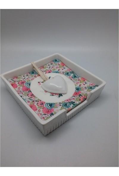 Queen's Kitchen Peçetelik Beyaz Porselen (29771)