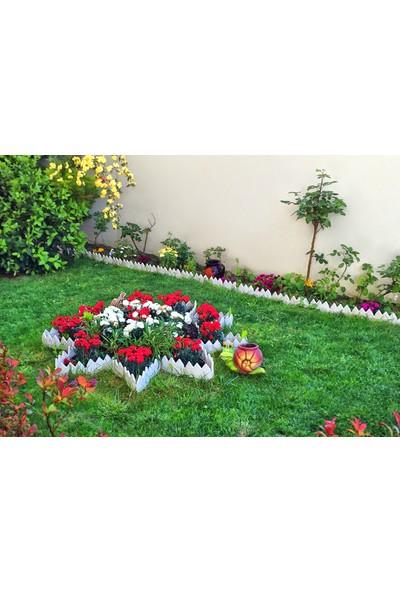 Gerok Dekoratif Bahçe Çiti Beyaz