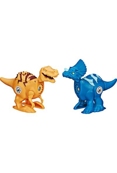 Jurassic World Tyrannosaurus Rex ve Trıceratops İkili Figür