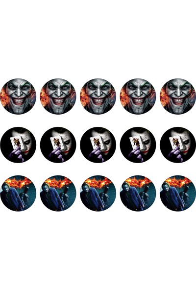Batman Cupcake Gofret Kağıt Baskı Joker (21 x 29 cm)