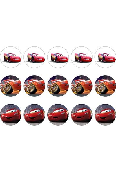 Cars Cupcake Gofret Kağıt Baskı Mcqueen (21 x 29 cm)