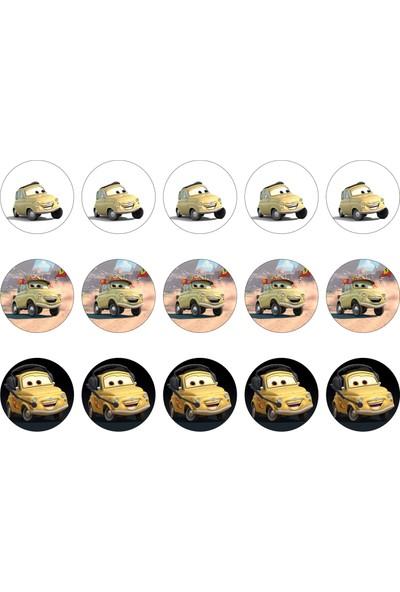 Cars Cupcake Gofret Kağıt Baskı Luigi (21 x 29 cm)