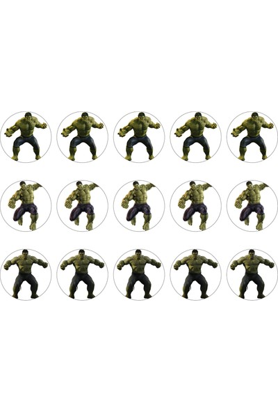Hulk Cupcake Gofret Kağıt Baskı (21 x 29 cm)