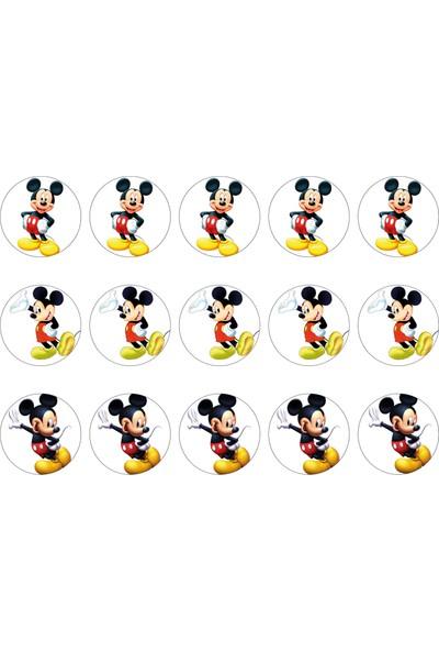 Mickey Mouse Cupcake Gofret Kağıt Baskı (21 x 29 cm)