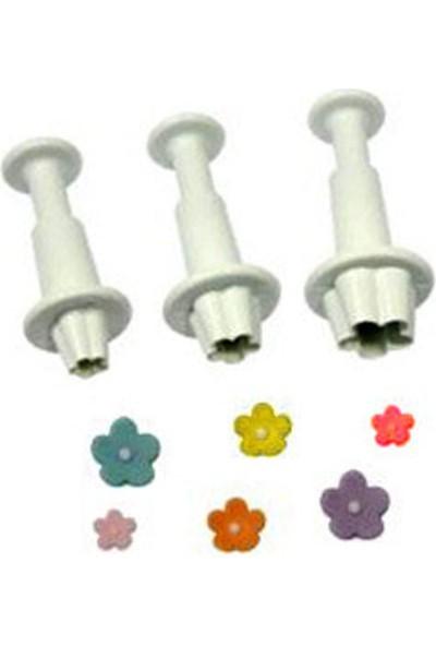 Çiçek Küçük Enjektörlü Şekillendirici (3 Adet)