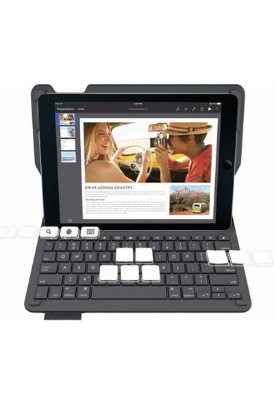 Logitech iPad Air iPad New 2017 Keyboard Folio Black 920-006549