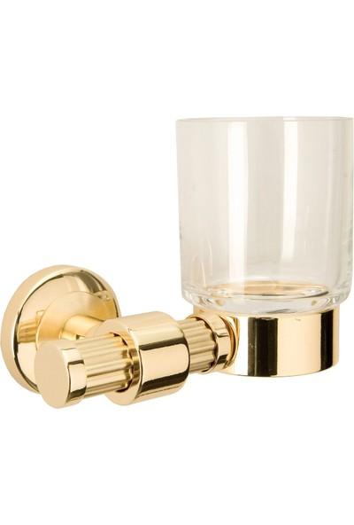 Saray Banyo Pirinç Fırçalık Plus Altın