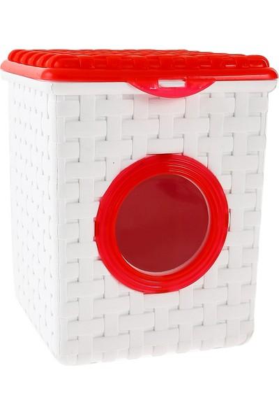 Atadan Kare Hasır Deterjan Kutusu Kırmızı