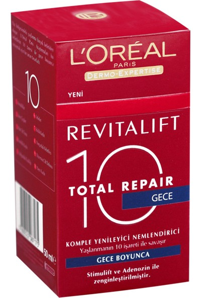 L'Oréal Paris Dermo Expertise Revitalift 10 Total Repair 50 Ml Gece Kremi