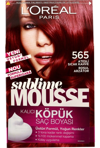 L'Oréal Paris Sublime Mousse Köpük Set Saç Boyası 56 Ateş Sıcak Kahve