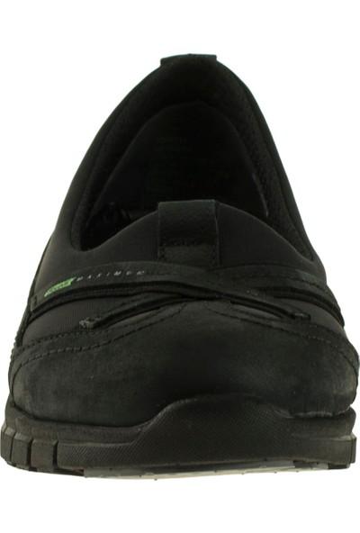 Forelli 29401 Kadın Siyah Deri Streç Ayakkabı