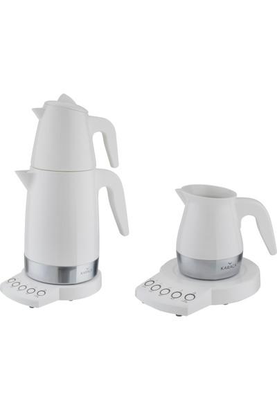 Karaca Allure Porselen Demlikli Çay & Kahve Makinesi Seti
