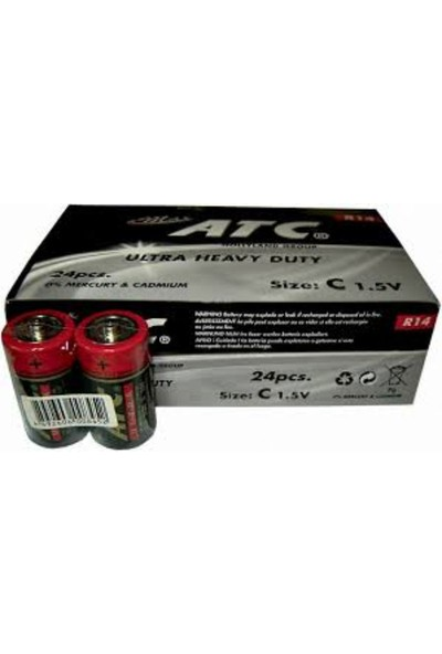 ATC C Size Orta Boy Pil 24 lü Kutu