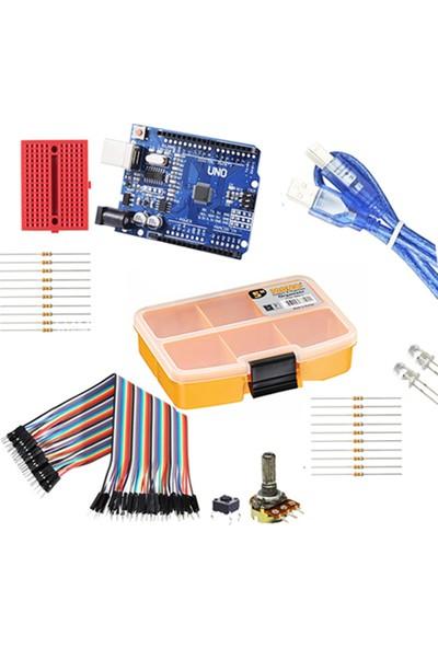Set Arduino Temel Set (Klon Arduino Uno R3 CH340 USB Çip)