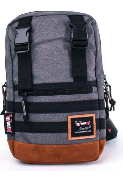 Young Body Bag Sırt Çantası Gri 31035