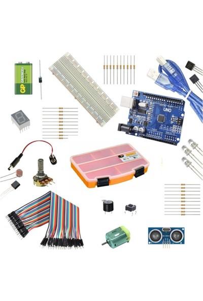 Set Arduino Başlangıç Seti (Klon Arduino Uno R3 CH340 Çip)