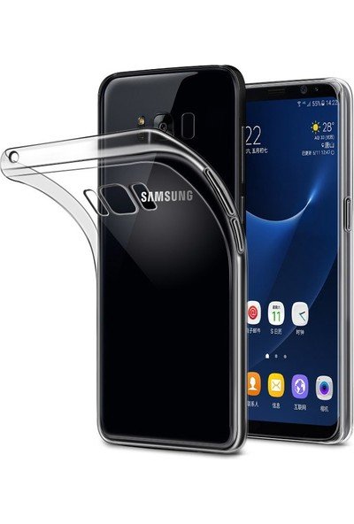 Coverzone Samsung Galaxy S8 Plus Kılıf 0.2 Mm Şeffaf Silikon + 3D Araç Kokusu