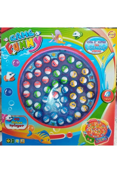 Pasifik Balık Tutma Oyunu Jumbo Boy 45 Balık (Işıklı) + Sticcer