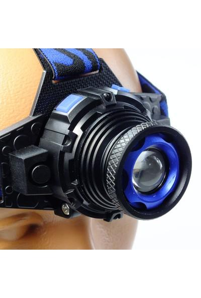 Swat Sw-01 Şarjlı Zoomlu Profesyonel Kafa Feneri