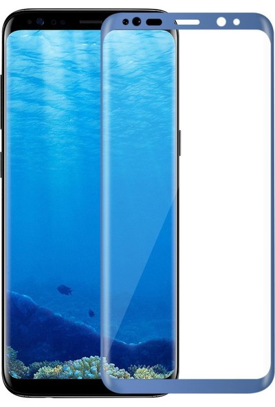 Dual Pazar Samsung Galaxy S8 Plus Temperli 9H 3D Kavisli Ekran Koruyucu