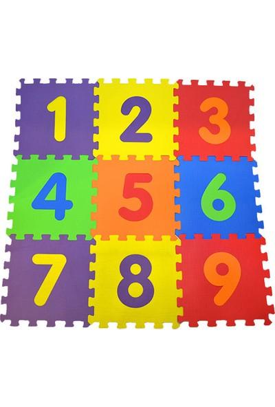 Eva Puzzle Oyun Karosu 9 Parça Yer Halısı 33 cm x 33 cm Sayılar