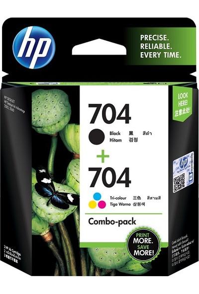 Hp 704 Siyah Ve Renkli Kartuş 2'Li Paket