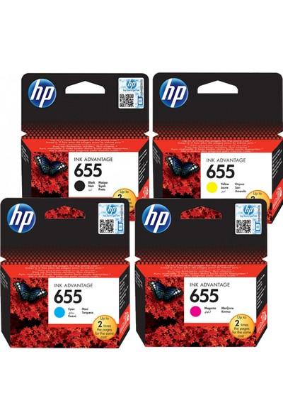 Hp 655 Siyah,Mavi,Sarı,Kırmızı Avantaj Paket