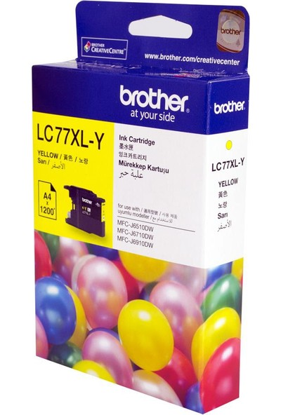 Brother Mfc-6170 1.200 Syf. Sarı Kartuş (Lc-77Xly)