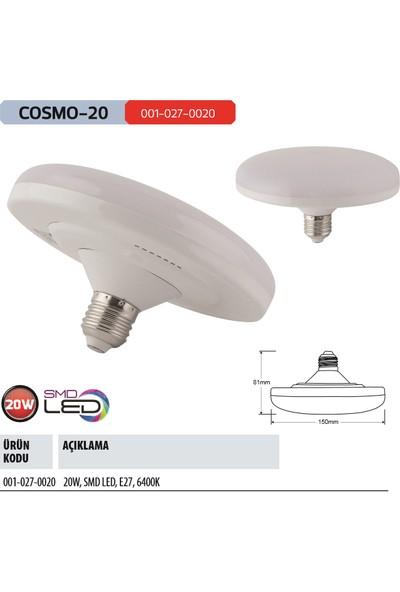 Horoz Cosmo-20 20 Watt Ufo Led Ampul E-27 Duy 6400K Beyaz Işık 20W