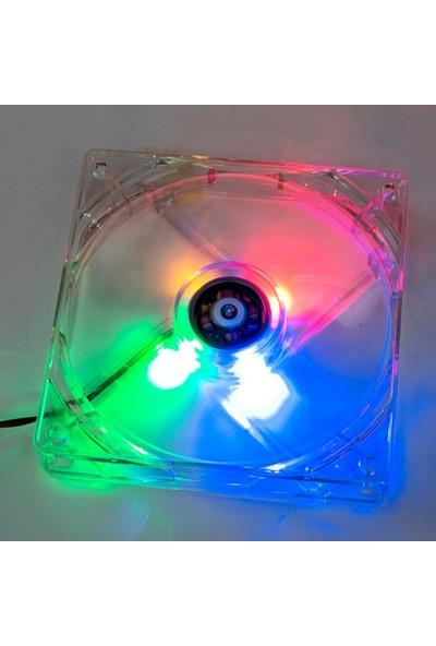 CresCent Işıklı Kasa Fanı 12 Cm 4 Renkli Sessiz 4 Led