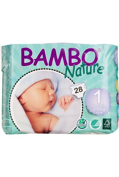 Bambo Nature Yenidoğan 2-4 Kg No:1 Organik Bebek Bezi