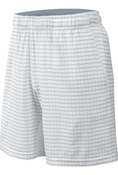 Wilson Spring Outline 8 Erkek Şort - White/Pearl Gray (L) ( WRA745601LG )
