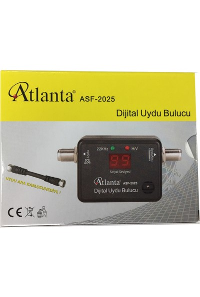 Atlanta ASF 2025 Dijital Uydu Bulucu + Test Ara Kablosu
