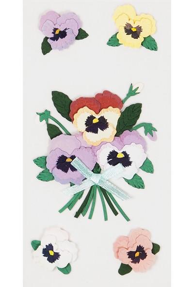 Coccomell El Yapımı Dekor Sticker Çiçek Buket