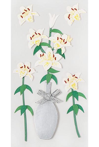 Coccomell El Yapımı Dekor Sticker Orkide