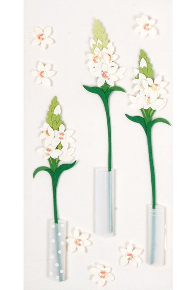 Coccomell El Yapımı Dekor Sticker Vazoda Çiçek