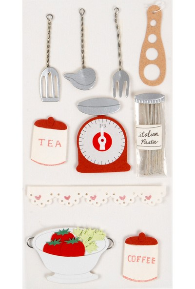 Coccomell El Yapımı Dekor Sticker Mutfak