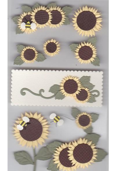 Coccomell El Yapımı Dekor Sticker Ayçiçeği