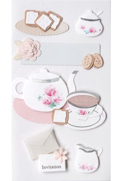 Coccomell El Yapımı Dekor Sticker Çay Keyfi