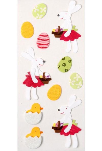 Coccomell El Yapımı Dekor Sticker Tavşan Civciv