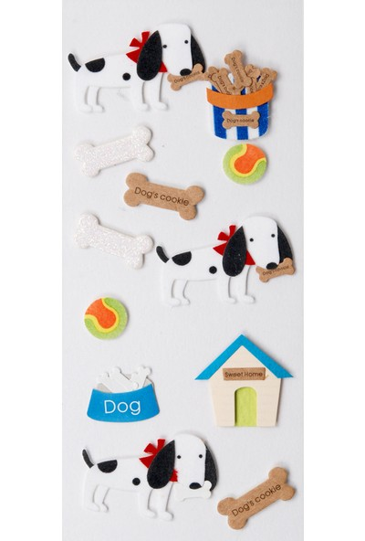 Coccomell El Yapımı Dekor Sticker Köpek Kemik