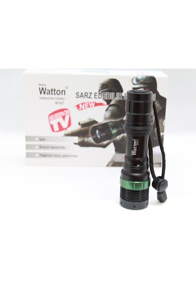 Watton 800 Metre Mesafe T6 Cree Led Şarj Edilebilir El Feneri