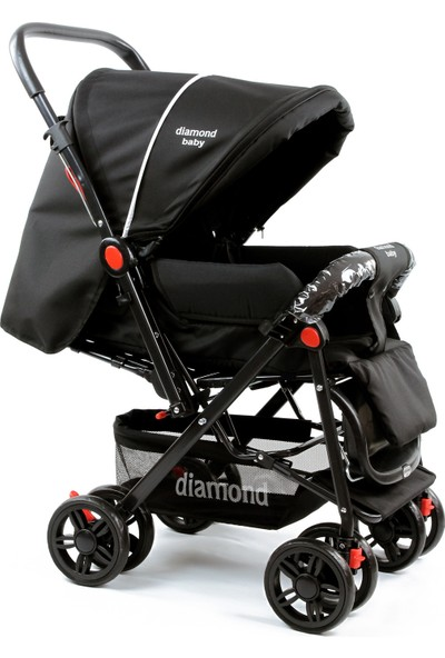 Diamond Baby P101 Çift Yönlü Lüks Bebek Arabası / Siyah