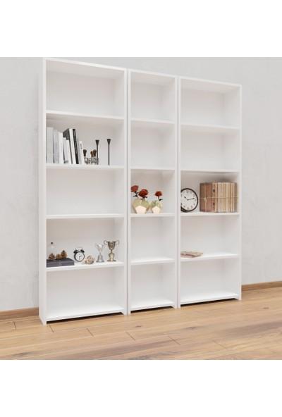 Hepsi Home Geniş Kitaplık Parlak Beyaz