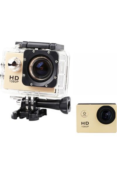 POWPAC HD 1080P Sport +5MP Aksiyon Kamera -Altın Renk
