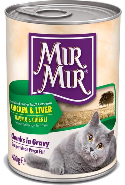 MırMır Chicken & Liver Chunks in Gravy Kedi Konservesi 400 Gr