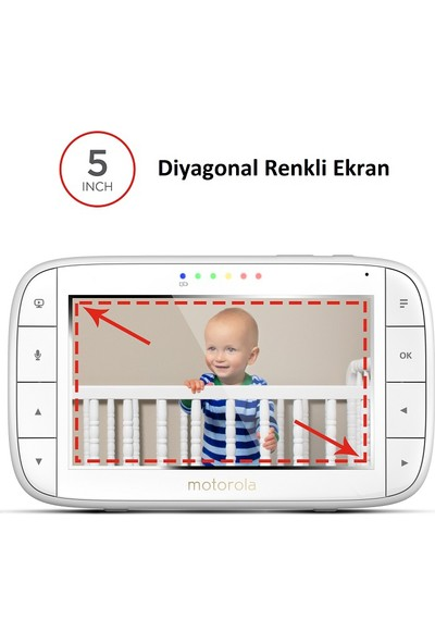 Motorola MBP 36 XL 5 inç LCD Ekran Dijital Pilli Bebek Kamerası