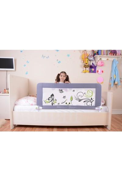 Miny Baby Portatif Katlanabilir Yatak Bariyeri / Gri