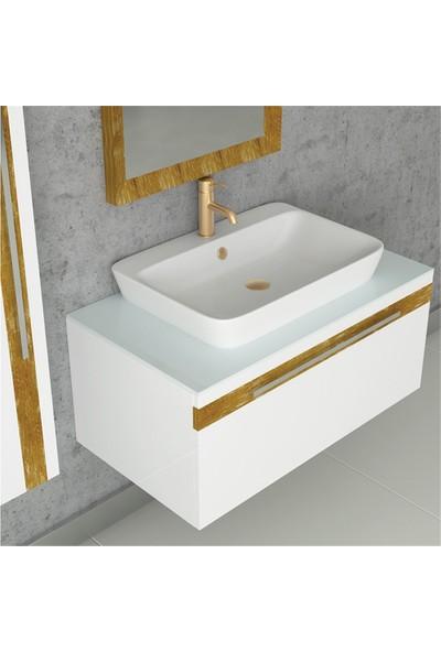 NPlus Delux 90 cm Banyo Dolabı