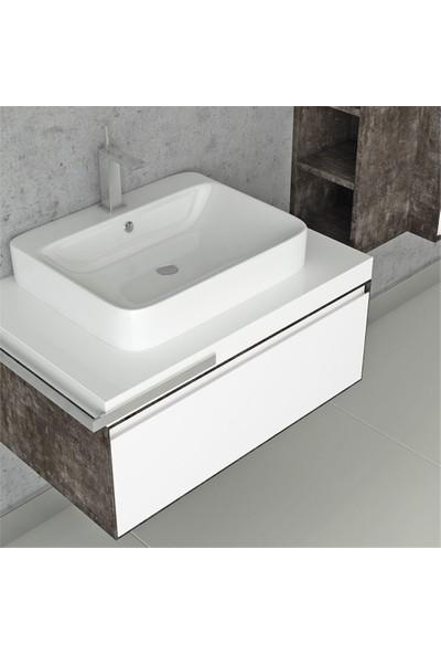 NPlus Mokka 80 cm Banyo Dolabı